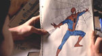 Completed Spider-Man drawing